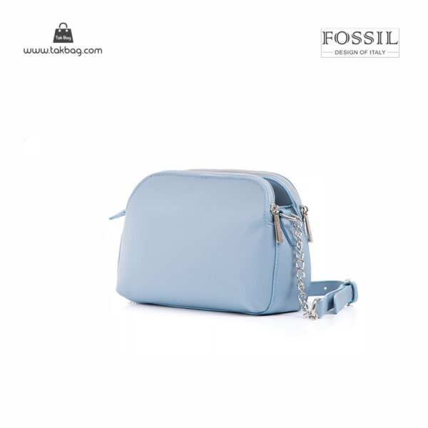 کیف برند فسیل رنگ ابی از پشت ( fossil tb-6101)