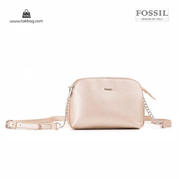 کیف برند فسیل رنگ طلایی از جلو ( fossil tb-6101)