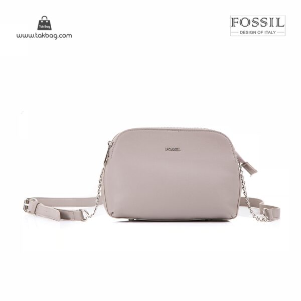 کیف برند فسیل رنگ طوسی از جلو ( fossil tb-6101)