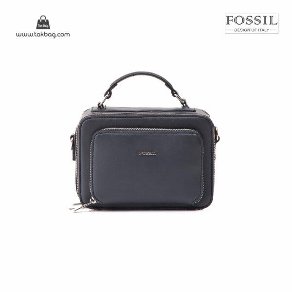 کیف برند فسیل رنگ مشکی از جلو ( fossil tb-6102)