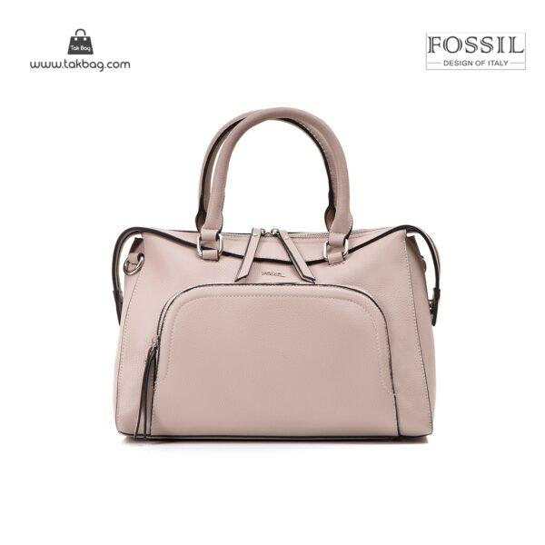 کیف برند فسیل رنگ کمل از جلو ( fossil tb-6103)