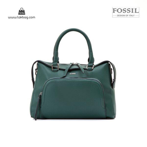 کیف برند فسیل رنگ سبز از جلو ( fossil tb-6103)