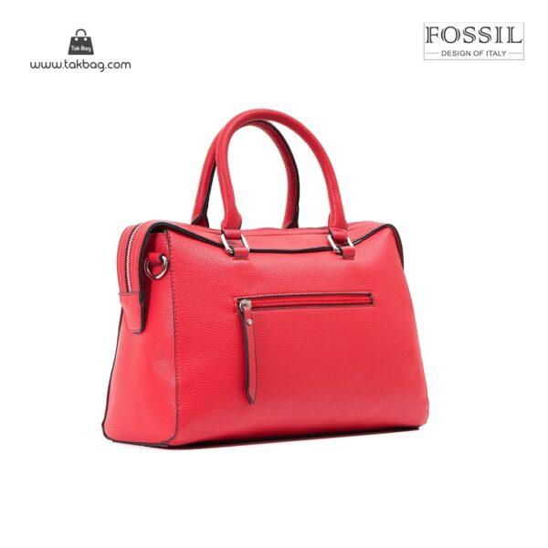 کیف برند فسیل رنگ قرمز از بغل ( fossil tb-6103)