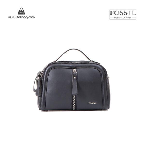 کیف برند فسیل رنگ مشکی از جلو ( fossil tb-6105)