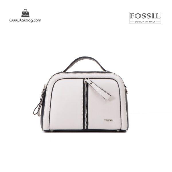 کیف برند فسیل رنگ طوسی از جلو ( fossil tb-6105)