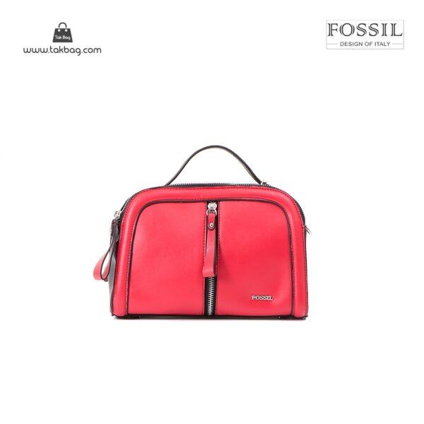 کیف برند فسیل رنگ قرمز از جلو ( fossil tb-6105)