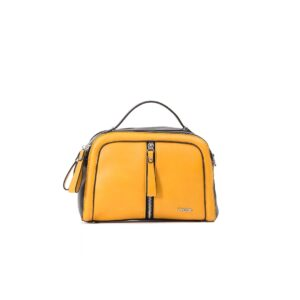 کیف برند فسیل رنگ زرد از جلو ( fossil tb-6105)