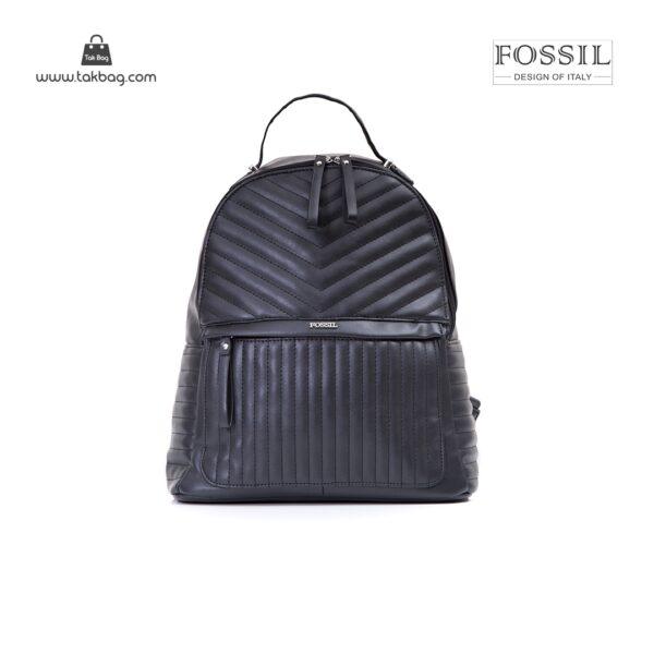 کیف برند فسیل رنگ مشکی از جلو ( fossil tb-6106)