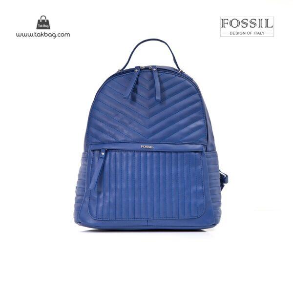 کیف برند فسیل رنگ آبی از جلو ( fossil tb-6106)