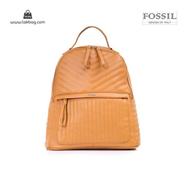 کیف برند فسیل رنگ قهوه ای از جلو ( fossil tb-6106)