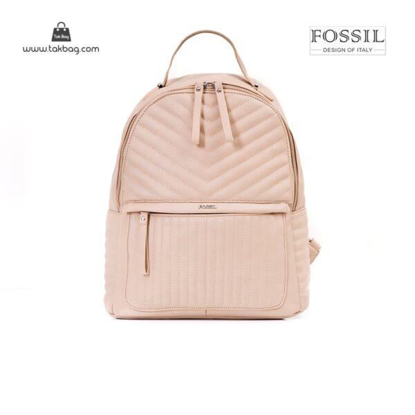 کیف برند فسیل رنگ کمل از جلو ( fossil tb-6106)