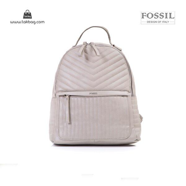 کیف برند فسیل رنگ طوسی از جلو ( fossil tb-6106)