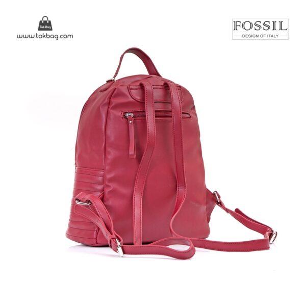 کیف برند فسیل رنگ قرمز از پشت ( fossil tb-6106)