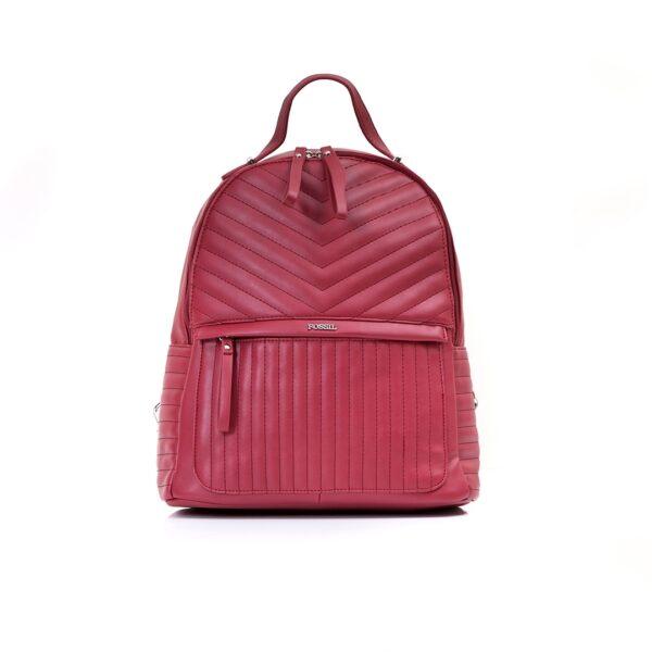 کیف برند فسیل رنگ قرمز از جلو ( fossil tb-6106)