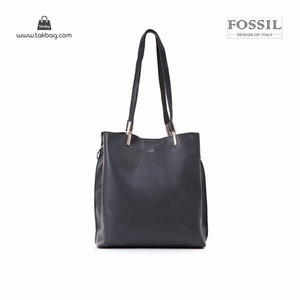 کیف برند فسیل رنگ مشکی از جلو ( fossil tb-6107)