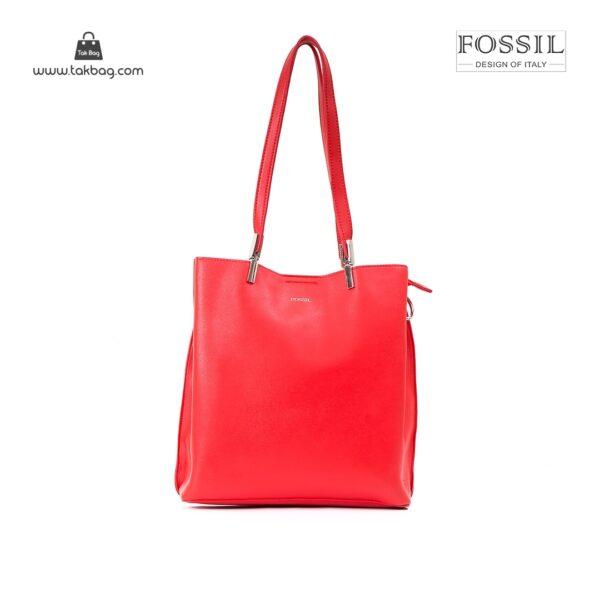 کیف برند فسیل رنگ قرمز از جلو ( fossil tb-6107)