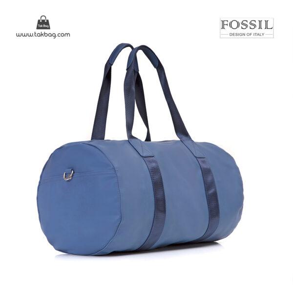 کیف برند فسیل رنگ آبی از بغل ( fossil tb-6111)