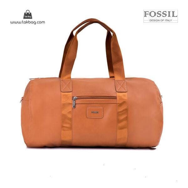 کیف برند فسیل رنگ قهوه ای از جلو ( fossil tb-6111)