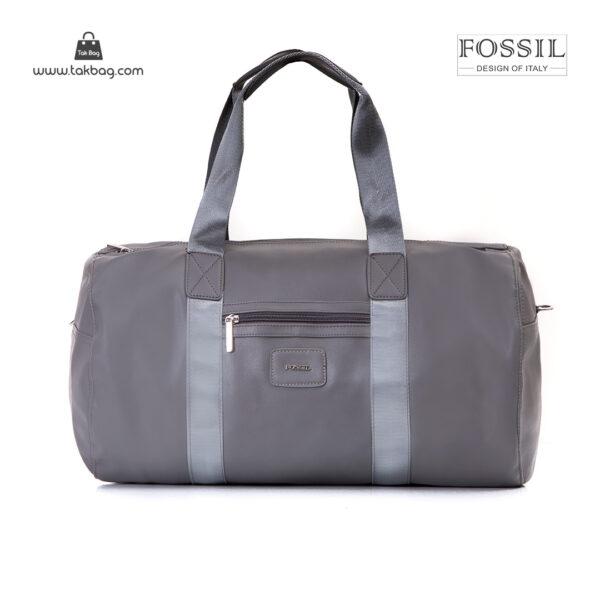 کیف برند فسیل رنگ طوسی از جلو ( fossil tb-6111)