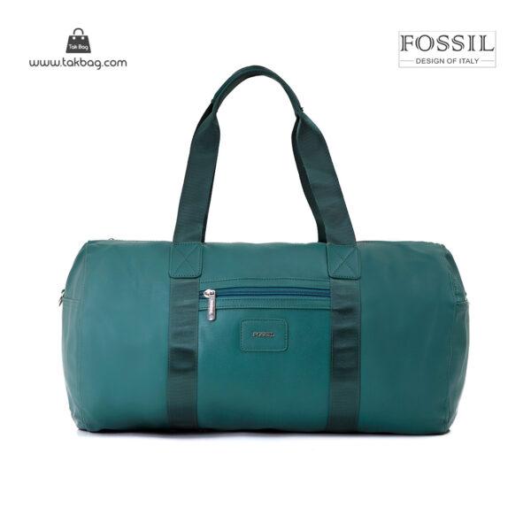 کیف برند فسیل رنگ سبز از جلو ( fossil tb-6111)