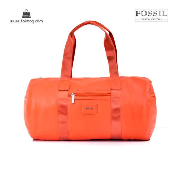 کیف برند فسیل رنگ نارنجی از جلو ( fossil tb-6111)