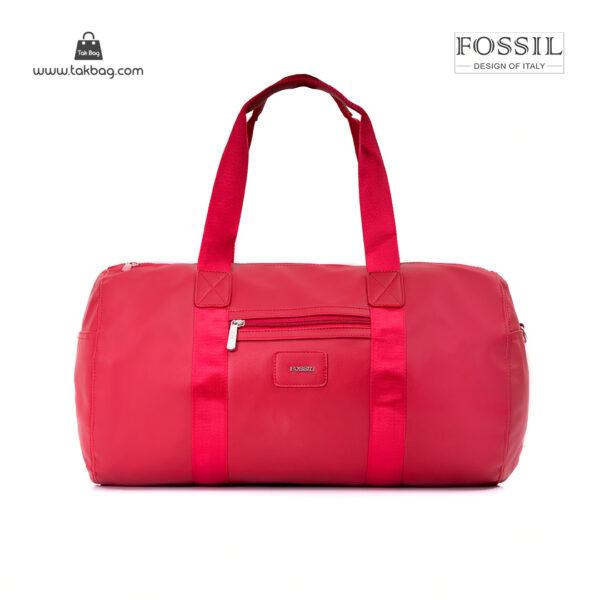 کیف برند فسیل رنگ قرمز از جلو ( fossil tb-6111)
