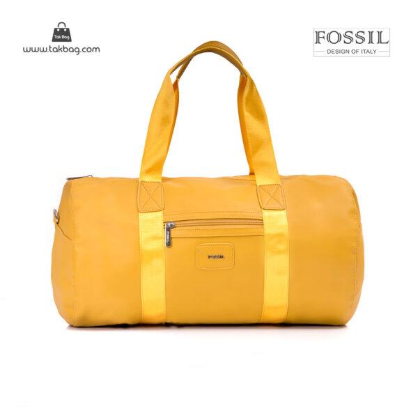 کیف برند فسیل رنگ زرد از جلو ( fossil tb-6111)