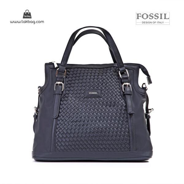 کیف برند فسیل رنگ مشکی از جلو ( fossil tb-6112)