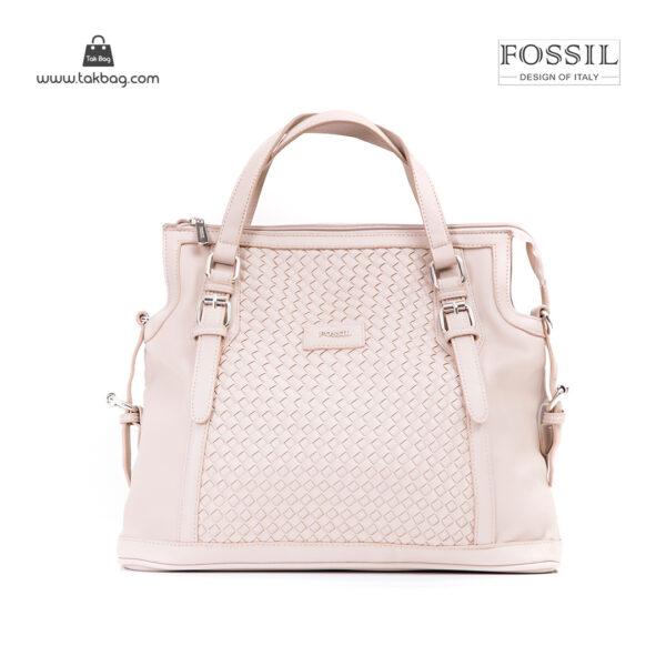 کیف برند فسیل رنگ کمل از جلو ( fossil tb-6112)
