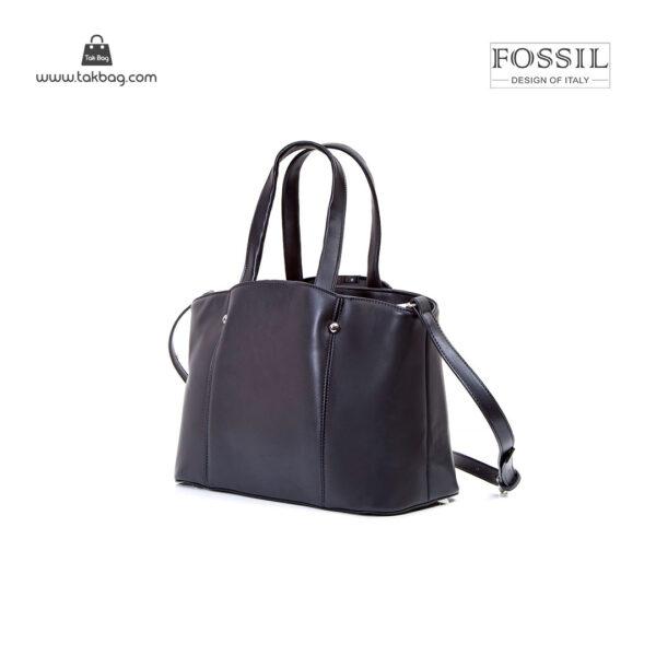 کیف برند فسیل رنگ مشکی از بغل ( fossil tb-6113)