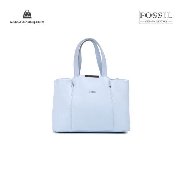 کیف برند فسیل رنگ آبی از جلو ( fossil tb-6113)