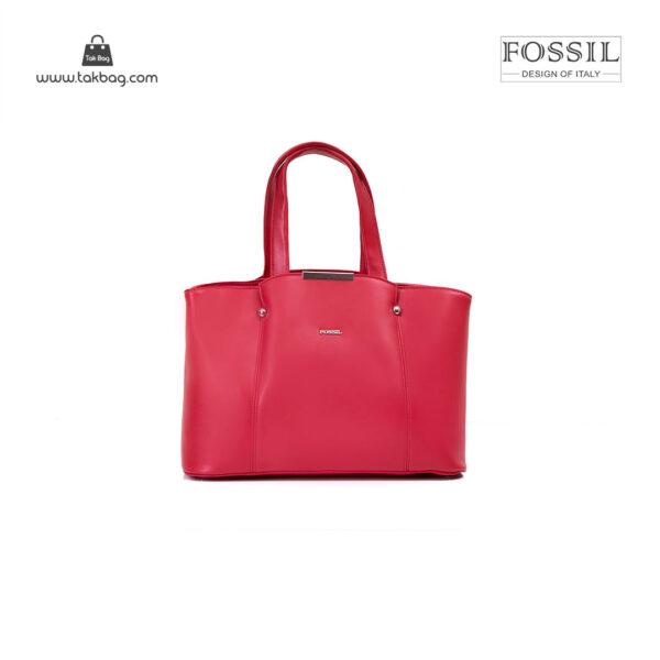 کیف برند فسیل رنگ قرمز از جلو ( fossil tb-6113)