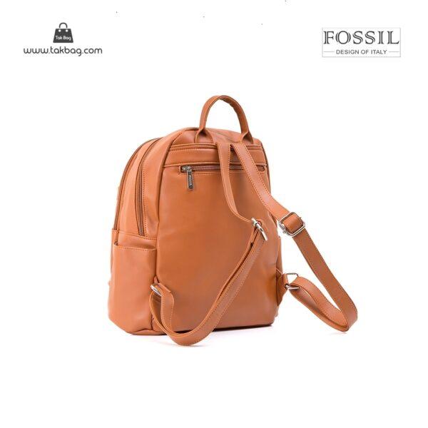 کیف برند فسیل رنگ قهوه ای از بغل ( fossil tb-6109)