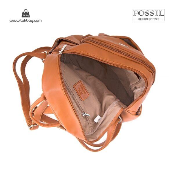 کیف برند فسیل رنگ قهوه ای از بالا ( fossil tb-6109)