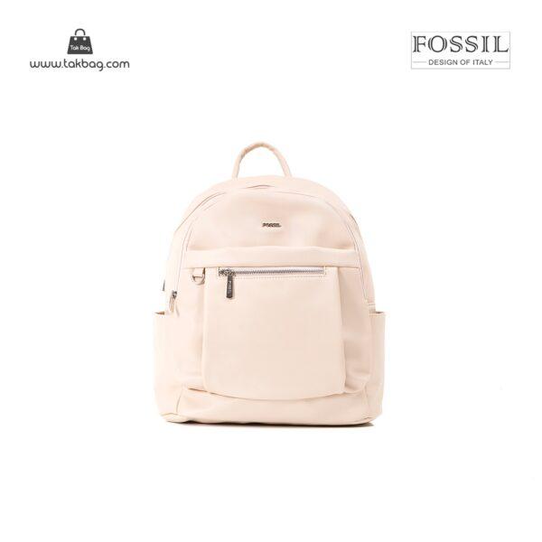 کیف برند فسیل رنگ کمل از جلو ( fossil tb-6109)