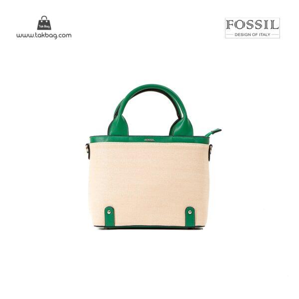 کیف برند فسیل رنگ سبز از جلو ( fossil tb-6110)