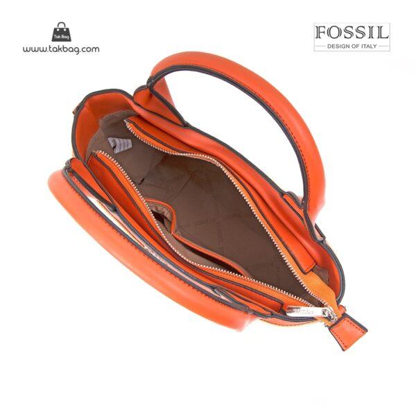 کیف برند فسیل رنگ نارنجی از بالا ( fossil tb-6110)
