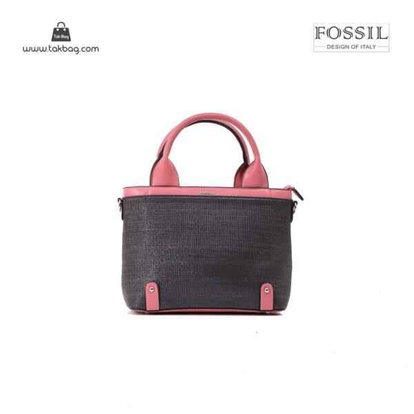 کیف برند فسیل رنگ صورتی از جلو ( fossil tb-6110)