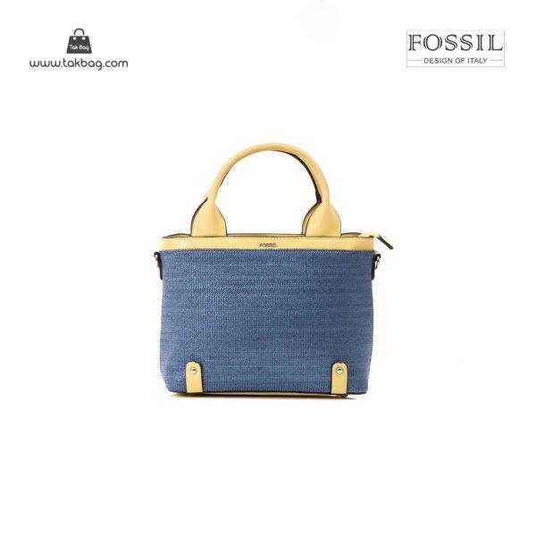 کیف برند فسیل رنگ زرد از جلو ( fossil tb-6110)
