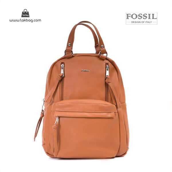 کیف برند فسیل رنگ قهوه ای از جلو ( fossil tb-6114)