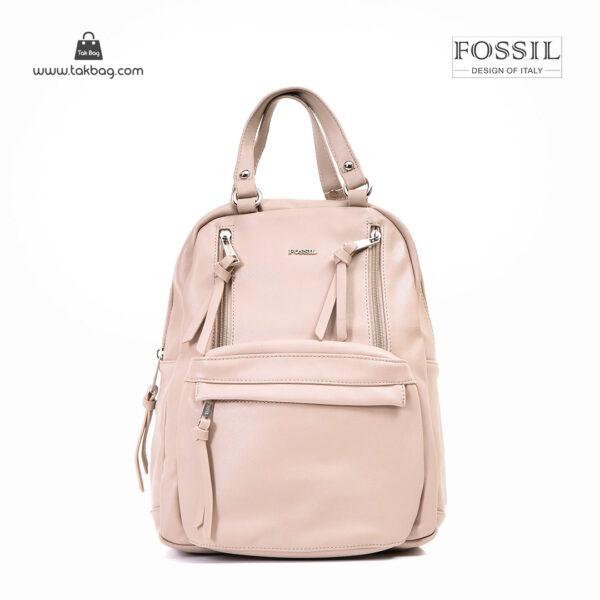 کیف برند فسیل رنگ کمل از جلو ( fossil tb-6114)