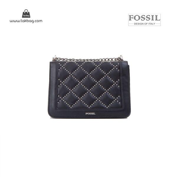 کیف برند فسیل رنگ مشکی از جلو ( fossil tb-6115)