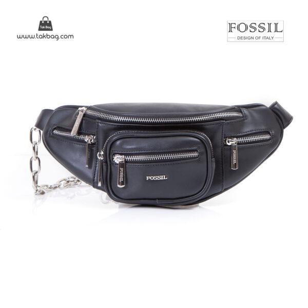 کیف برند فسیل رنگ مشکی از جلو ( fossil tb-6116)