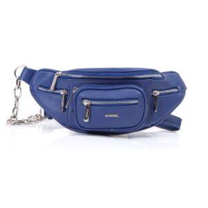 کیف برند فسیل رنگ آبی از جلو ( fossil tb-6116)