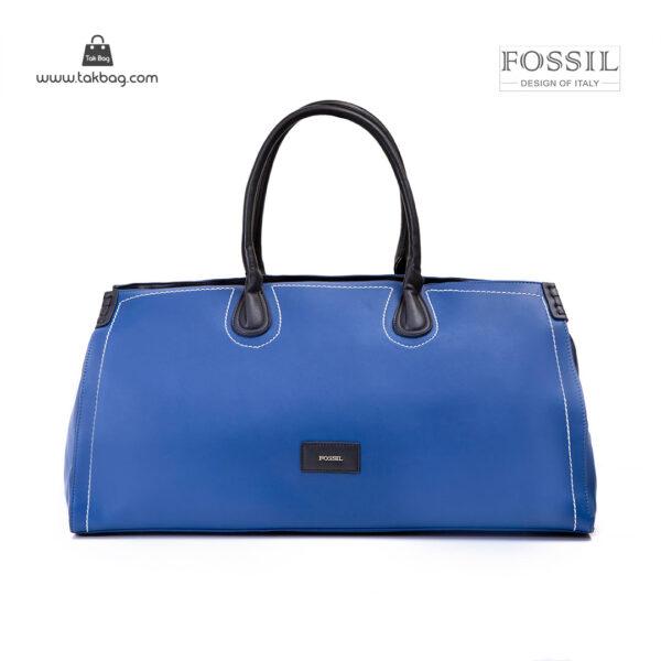 کیف برند فسیل رنگ آبی از جلو ( fossil tb-6122 )