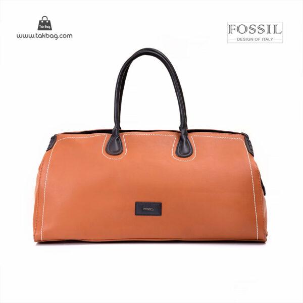 کیف برند فسیل رنگ قهوه ای از جلو ( fossil tb-6122 )