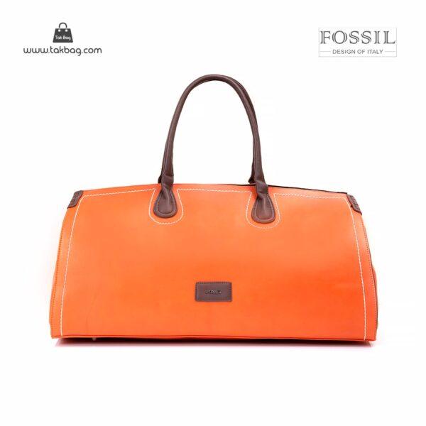 کیف برند فسیل رنگ نارنجی از جلو ( fossil tb-6122 )