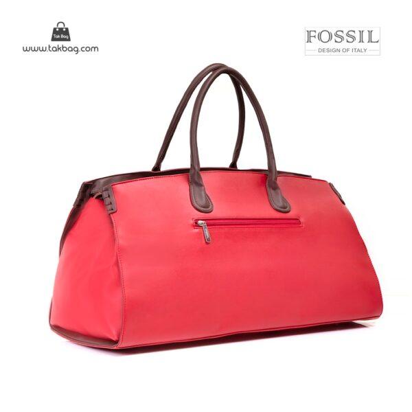 کیف برند فسیل رنگ قرمز از پشت ( fossil tb-6122 )