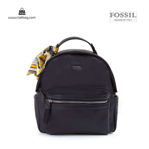 کیف برند فسیل رنگ مشکی از جلو ( fossil tb-6123)