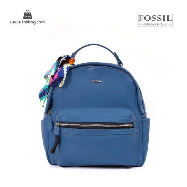 کیف برند فسیل رنگ آبی از جلو ( fossil tb-6123)